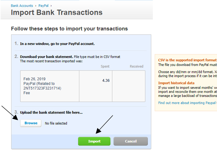 How to import PayPal Transactions in Xero (Part 1 – Gross